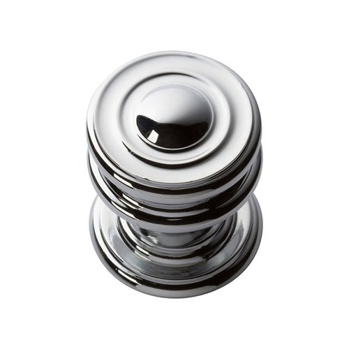 "Atlas Homewares Campaign Knob 1-1/4"" Dia Polished Chrome 376-CH"