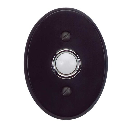 Atlas Homewares Traditionalist Doorbell Button Black DB646-BL