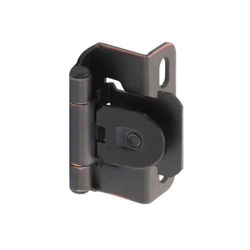 "Single Demountable 1/2"" Overlay Hinge Oil Rubbed Bronze-Pair <small>(#CM8719ORB)</small>"