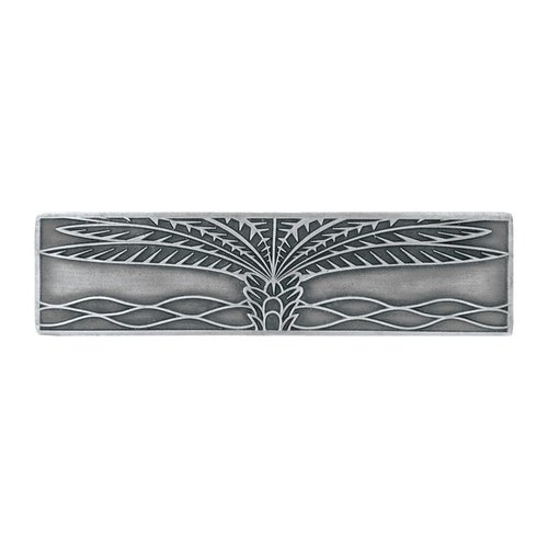 Notting Hill Tropical 3 Inch Center to Center Antique Pewter Cabinet Pull NHP-323-AP