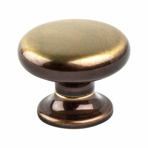 Berenson Valencia 1-3/16 Inch Diameter Brushed Bronze Cabinet Knob 7014-1BBZ-C