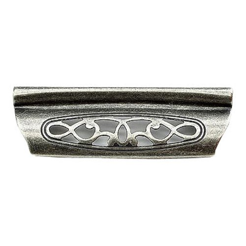 Schaub and Company Firenza Designs 3-3/4 Inch Center to Center Firenza Silver Cabinet Cup Pull 282-FS