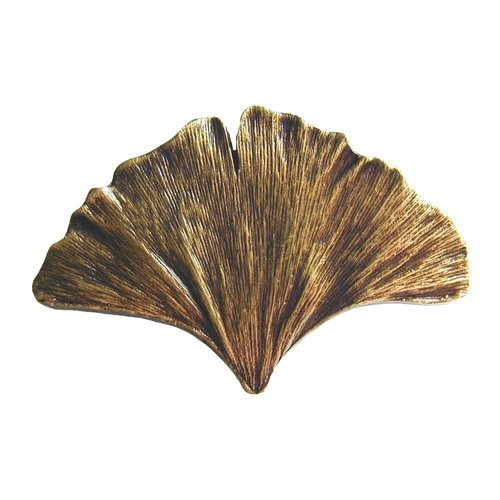 Notting Hill Leaves 2-1/8 Inch Diameter Antique Brass Cabinet Knob NHK-147-AB