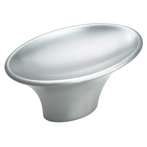 Sleek 2 Inch Diameter Brushed Chrome Cabinet Knob <small>(#BP2612926D)</small>