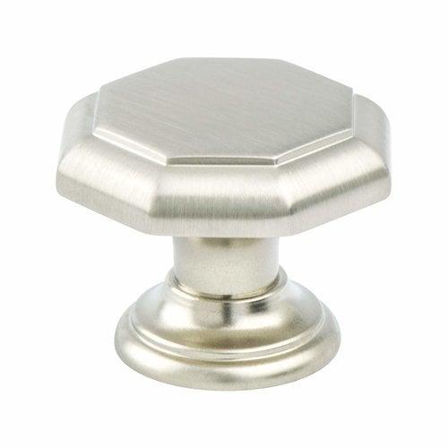 Berenson Euro Classica 1-3/8 Inch Diameter Brushed Nickel Cabinet Knob 7087-1BPN-P