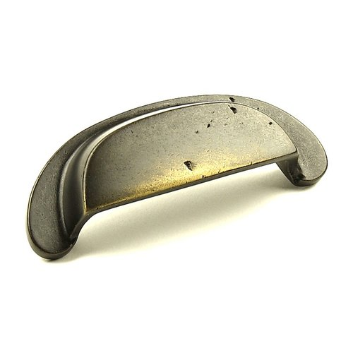 Century Hardware Whistler 3-1/2 Inch Center to Center Antique Iron Cabinet Cup Pull 19545-AI