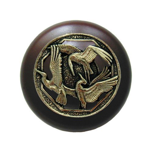 Notting Hill Arts & Crafts 1-1/2 Inch Diameter Brite Brass Cabinet Knob NHW-737W-BB