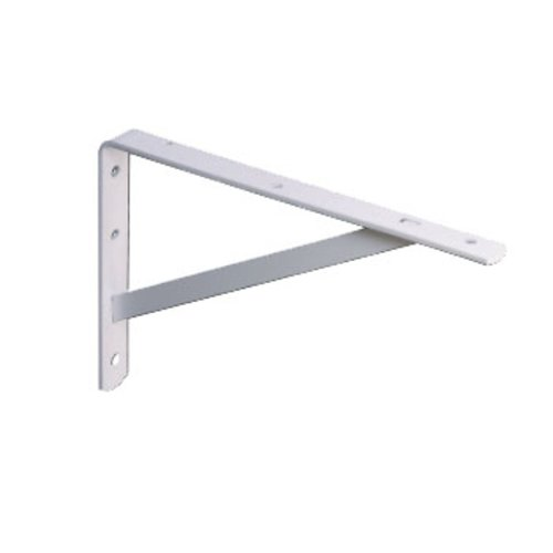 "Knape and Vogt 208 Ultimate L Bracket 12"" White 208 WH 300"