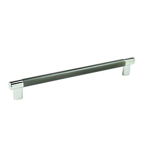 "Amerock Esquire Pull 10-1/16"" C/C Polished Nickel/Gunmetal BP36560PNGM"