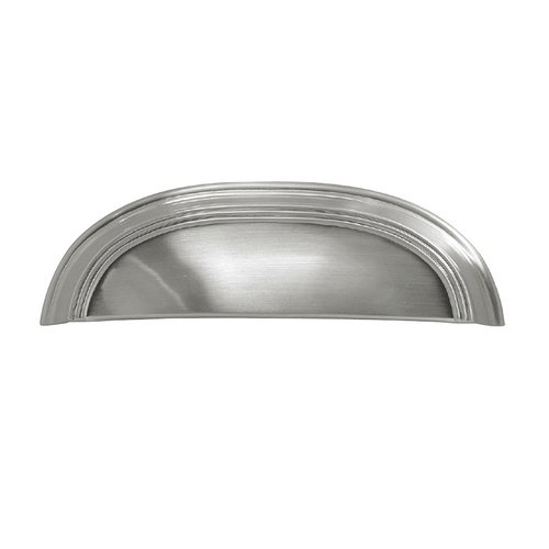 Hickory Hardware American Diner 3-3/4 Inch Center to Center Satin Nickel Cabinet Cup Pull P2144-SN