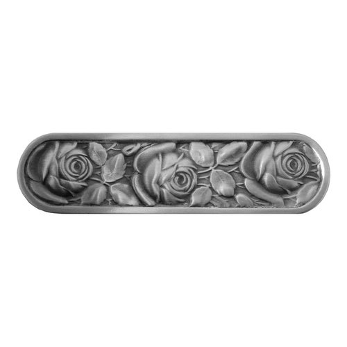 Notting Hill English Garden 3 Inch Center to Center Antique Pewter Cabinet Pull NHP-680-AP