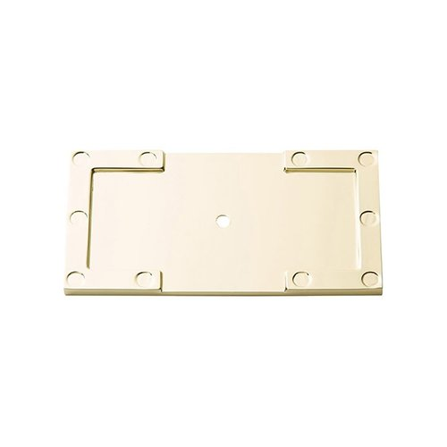 "Atlas Homewares Campaign L Bracket Backplate 3-11/16"" Long Polished Brass 378-PB"