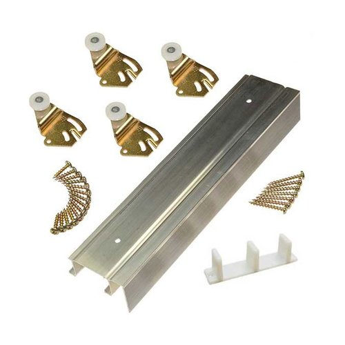 "Johnson Hardware 2200F Series Bypass Track and Hardware Set for 2 Doors 60"" 2200F601"