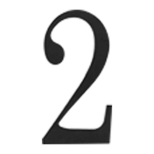 Atlas Homewares Traditionalist House Number Two Black TRN2-BL