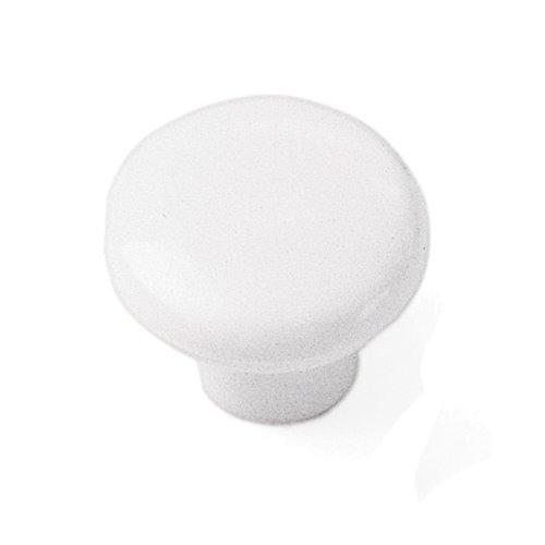 Laurey Hardware Plastics 1-1/4 Inch Diameter White Cabinet Knob 34642