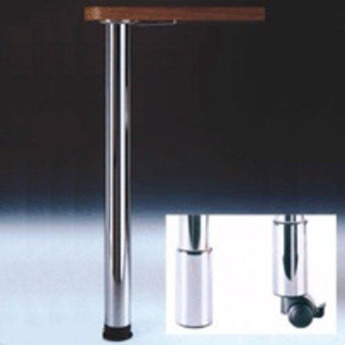 Peter Meier Zoom Table Leg Set Brushed Steel 34-1/4 inch H 666-87-ST