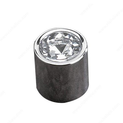 Richelieu Swarovski Crystal 11/16 Inch Diameter Chrome Cabinet Knob 21719140