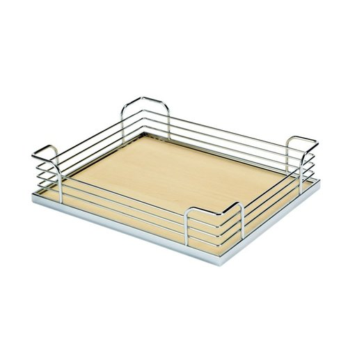 "Kessebohmer Arena Plus Chefs Pantry Back Tray Set 20-7/8"" W Chrome/Maple 546.64.173"