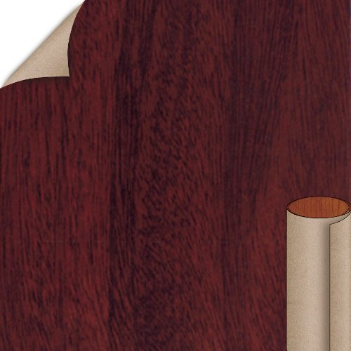Nevamar Crest Mahogany Polished Velvet Finish 4 ft. x 8 ft. Vertical Grade Laminate Sheet W8343PV-PV-V3-48X096