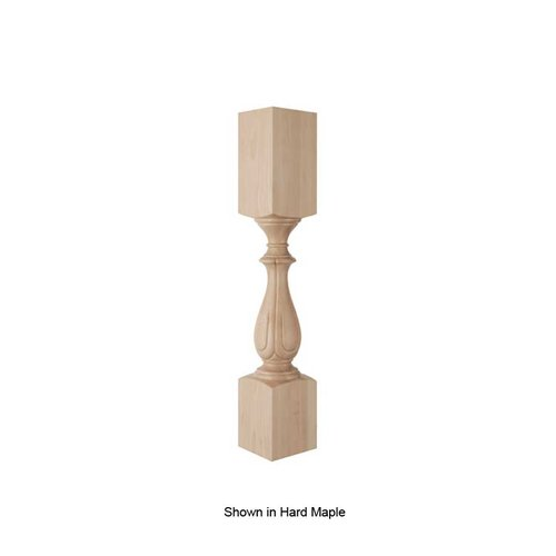 Brown Wood Fleur Column Unfinished Red Oak 01520215CH1