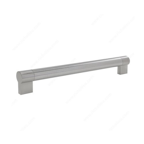Richelieu Bar Pulls 7-9/16 Inch Center to Center Brushed Nickel Cabinet Pull BP500192195