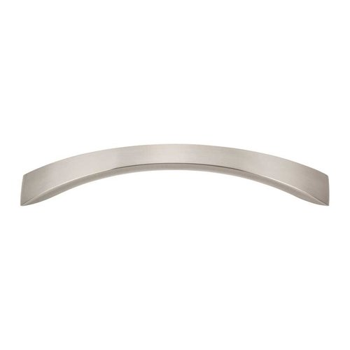 Sleek 5-1/16 Inch Center to Center Brushed Nickel Cabinet Pull <small>(#A881-BN)</small>