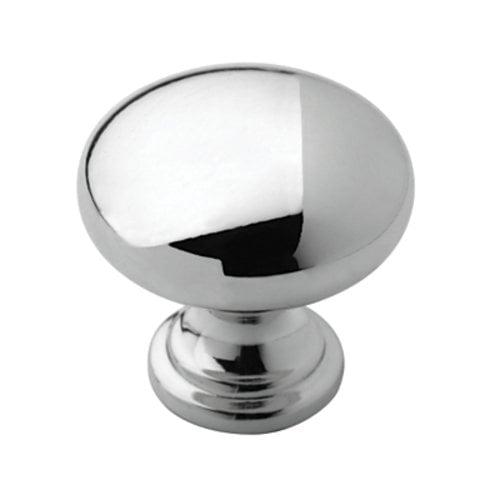 Amerock Allison Value Hardware 1-1/4 Inch Diameter Polished Chrome Cabinet Knob BP5302326