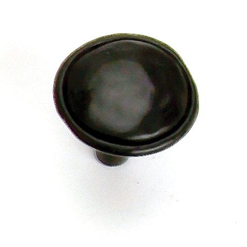 Laurey Hardware Merlot 1-3/8 Inch Diameter Matte Black Cabinet Knob 37420