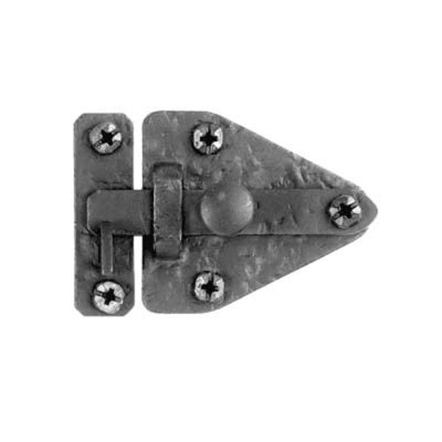 "Acorn Manufacturing Rough Iron Flush Cabinet Latch 2-5/32"" High Black Iron RL7BP"