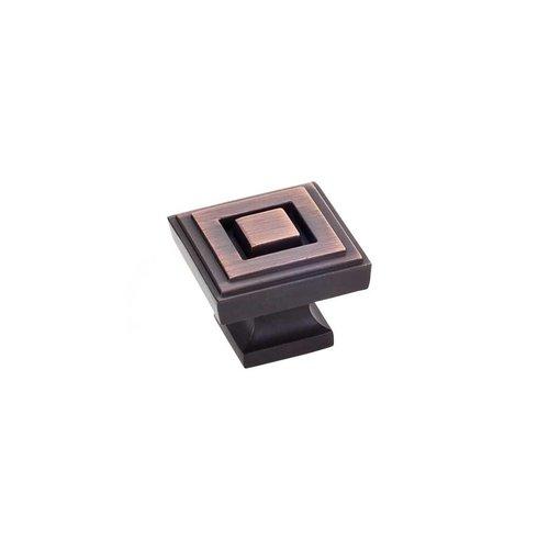 Jeffrey Alexander Delmar 1-1/4 Inch Diameter Brushed Oil Rubbed Bronze Cabinet Knob 585L-DBAC
