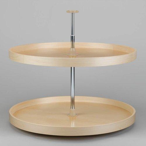 "Rev-A-Shelf Full Circle Two Shelf Set 32"" Diameter - Wood LD-4BW-062-32-1"