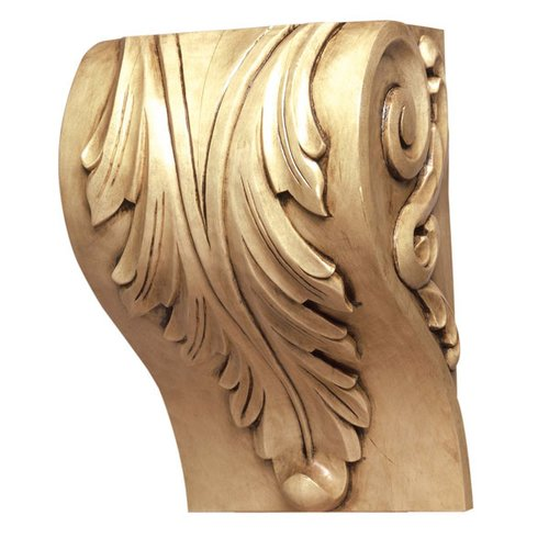 "Grand River Cor-8A Acanthus Block Corbel 10-5/8"" H-Maple COR-8A-M"