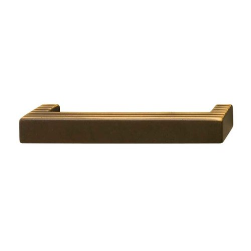 Hafele Bella Italiana 3-3/4 Inch Center to Center Highlighted Antique Bronze Cabinet Pull 108.57.111