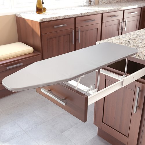 Vauth Sagel Drawer Mount Pull-Out Ironing Board White 9000 0120