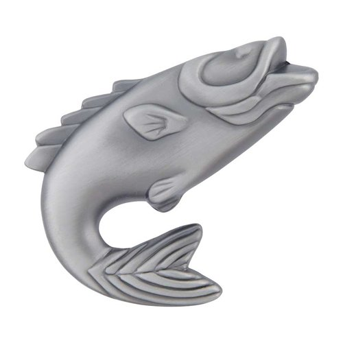 Fish 2-1/4 Inch Diameter Pewter Cabinet Knob <small>(#2204-NO)</small>