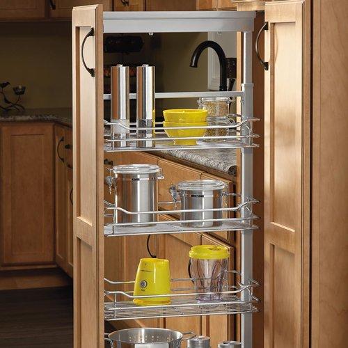 """Rev-A-Shelf 4 Basket Pantry 50-3/4"""" - 58-9/32"""" H Chrome 5750-20 CR"""
