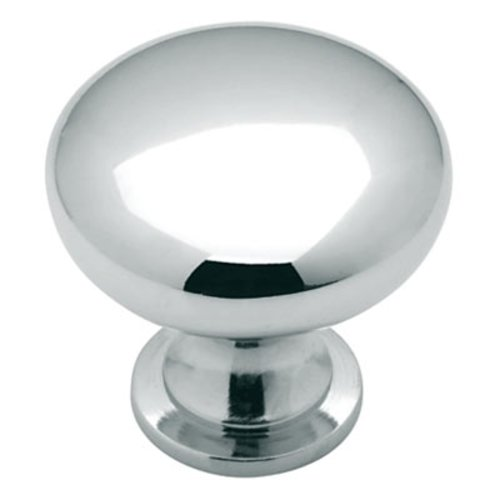 Amerock Allison Value Hardware 1-1/4 Inch Diameter Polished Chrome Cabinet Knob BP191026