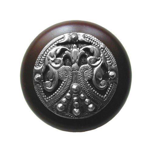 Notting Hill Olde Worlde 1-1/2 Inch Diameter Brilliant Pewter Cabinet Knob NHW-701W-BP