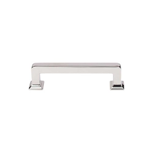 Top Knobs Transcend 3-3/4 Inch Center to Center Polished Nickel Cabinet Pull TK703PN