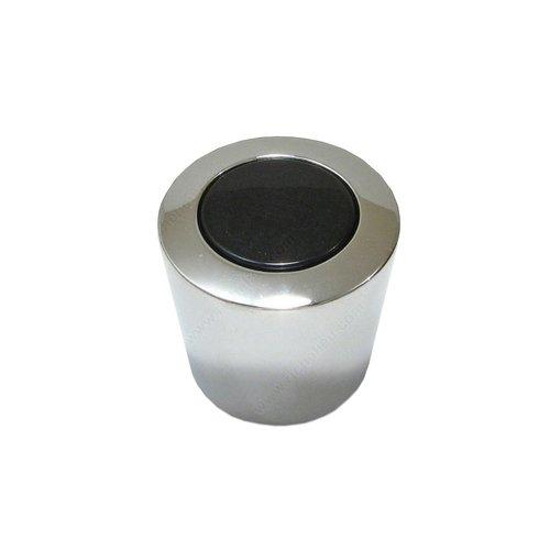 Richelieu Black & White 15/16 Inch Diameter Chrome,Black Cabinet Knob 21721714090