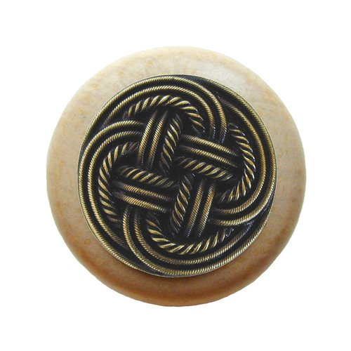 Notting Hill Classic 1-1/2 Inch Diameter Antique Brass Cabinet Knob NHW-739N-AB