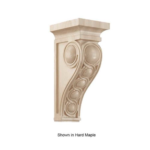 Brown Wood Large Infinity Corbel Unfinished Walnut 01601437WL1