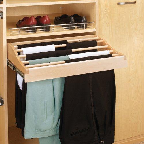 Rev-A-Shelf 30 inch W Pants Rack-Wood CWPR-3014-2