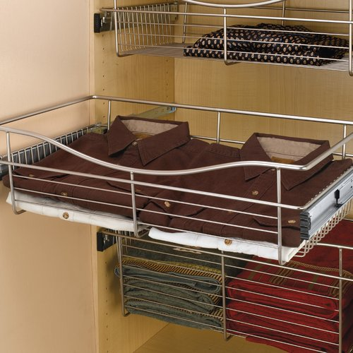 "Rev-A-Shelf Pullout Wire Basket 24"" W X 14"" D X 7"" H CB-241407SN-5"