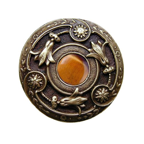 Notting Hill Jewel 1-1/4 Inch Diameter Antique Brass Cabinet Knob NHK-161-AB-TE