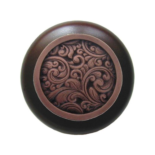 Notting Hill Classic 1-1/2 Inch Diameter Antique Copper Cabinet Knob NHW-759W-AC