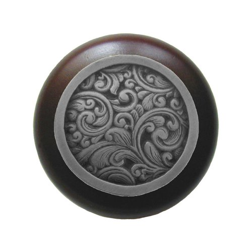 Notting Hill Classic 1-1/2 Inch Diameter Antique Pewter Cabinet Knob NHW-759W-AP