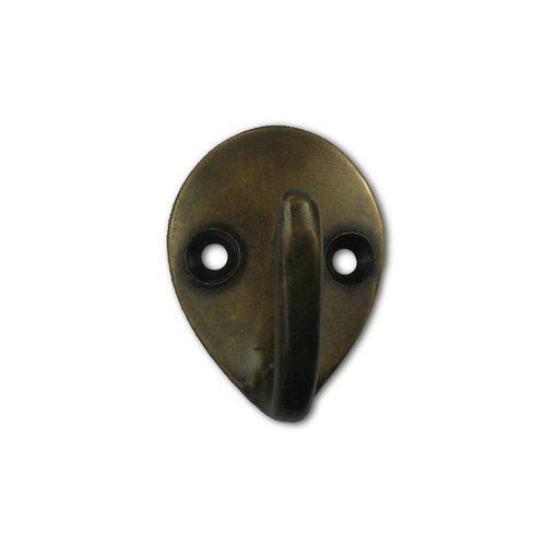 "Gado Gado Small Teardrop Hook 1-1/2"" L X 1-1/8"" W - Antique Brass HHK7088"