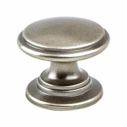 Berenson Andante 1-3/16 Inch Diameter Antique Pewter Cabinet Knob 7893-1AP-P