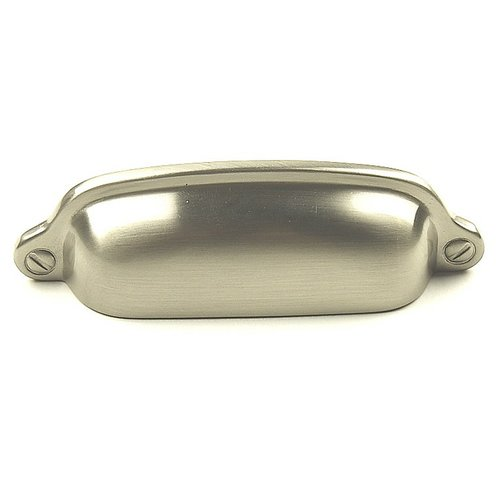 Yukon 3 Inch Center to Center Matte Satin Nickel Cabinet Cup Pull <small>(#18143-MSN)</small>